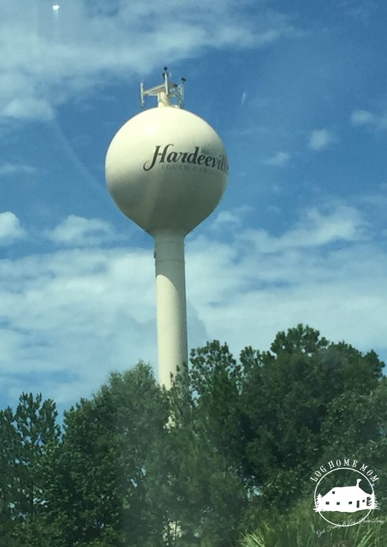Water tower on I-95 Hardeeville South Carolina