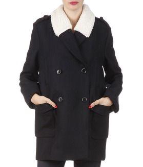 E-boutique Manteau En Laine Bleu Kookai femme | Place des Tendances