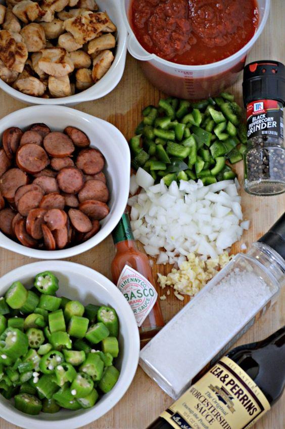 Sausage gumbo #batchcooking