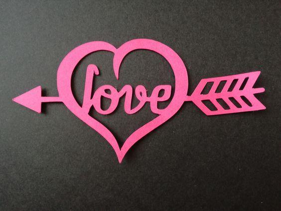 Découpe COEUR LOVE pour scrapbooking carterie.... : Embellissements par didine45