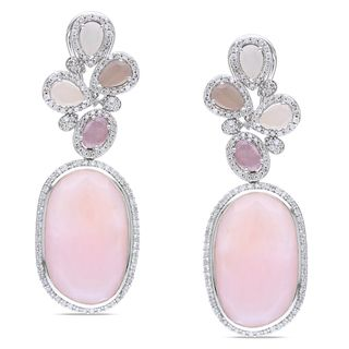 Miadora Collection - off-round pink opals with rose-colored sapphires and diamonds.