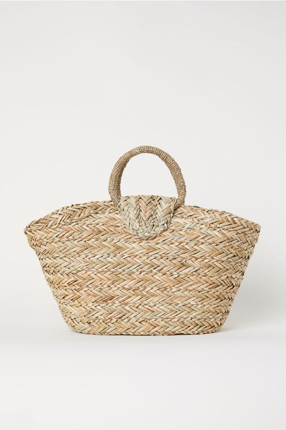 Sac en paille - Naturel - | H&M FR 1