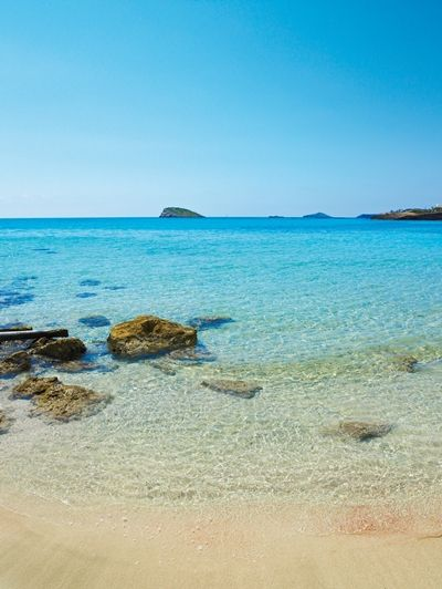 Cala Nova, Ibiza - now there is Atzaro Beach Club up the hill - the chiringuito down at the beach has great salads & Co.
