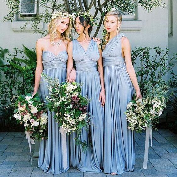 Versa Convertible Long Jersey Dress from Davids Bridal (in quartz ...