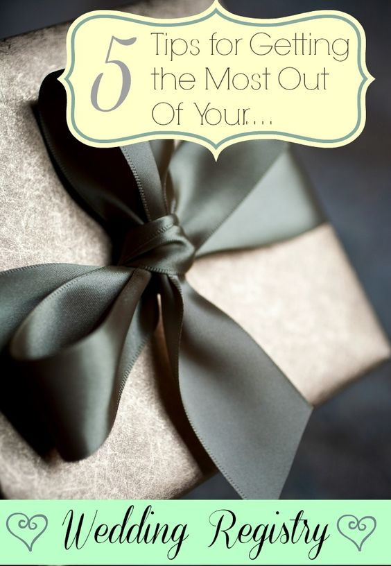 Tips For Wedding Gift Registry : Wedding gift registry, Gift registry and Wedding gifts on Pinterest