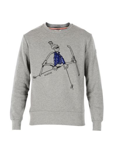 Moncler Embroidered sweatshirt tOKVNE1