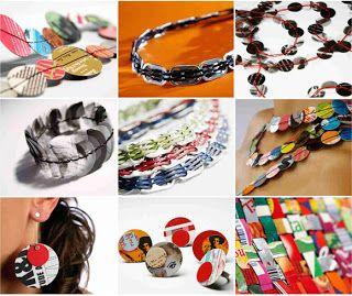 Mundo Bicho Grilo: Reutilização: Bijuterias de Papel, Pet e Alumínio