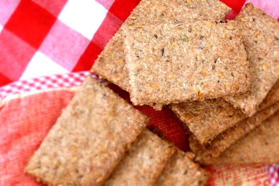 Crackers de linhaça