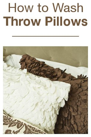 Washing Throw Pillows At Home : How to Wash Throw Pillows Warm, Throw pillows and Pillows