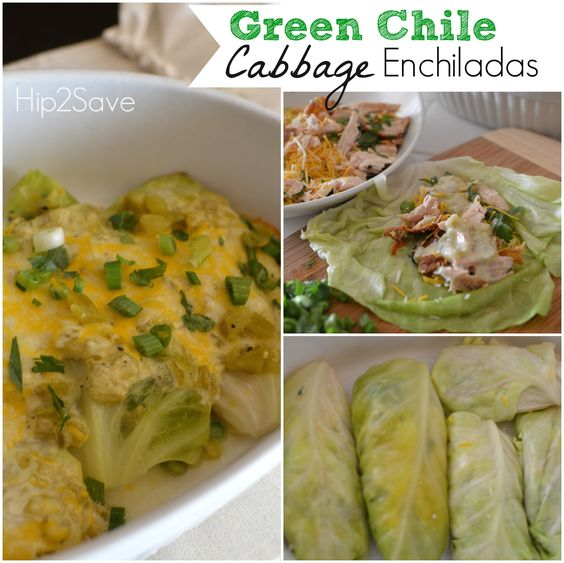 Green Chile Cabbage Enchiladas Recipe by Hip2Save (It's Not Your ...