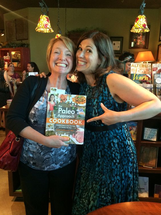 The Squirrel meets The Paleo Mom - The Paleo Approach Cookbook book signing