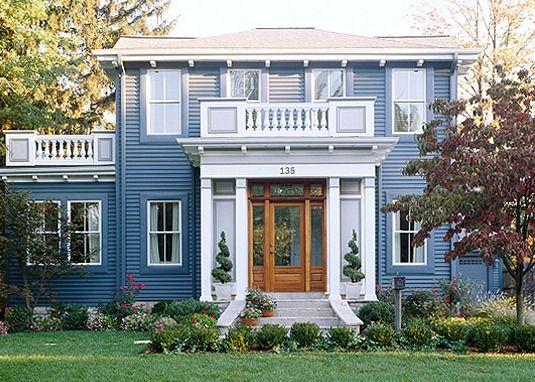 Un lugar para los sentidos distintos estilos de fachadas - Fachadas de casas pintadas ...