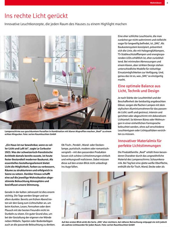 In The Report On Innovative Light Concepts, The Real Estate Magazine Of  Sparkasse Bremen (
