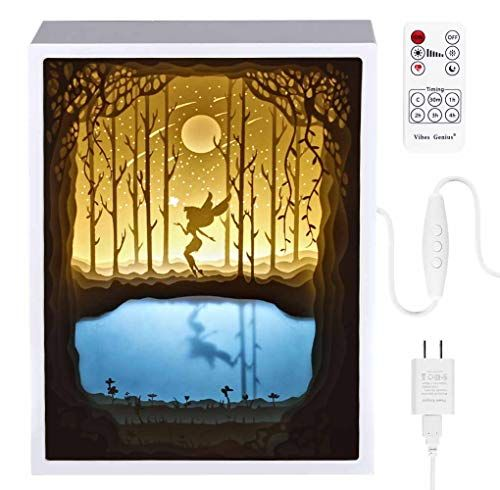 Papercut Light Boxes Night Light Lamp Of Creative Light Paintings Fairy Butterfly Review Night Light Lamp Night Light Light Painting