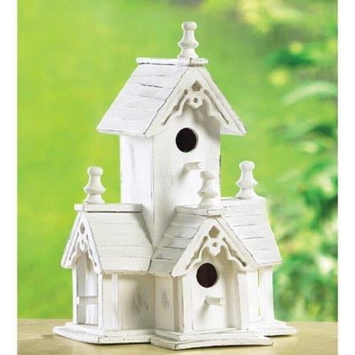Gifts & Decor White Shabby Victorian Wood Chic Bird House (Discontinued by Manufacturer) http://shabify.com/s/gifts-decor-white-shabby-victorian-wood-chic-bird-house-discontinued-by-manufacturer/