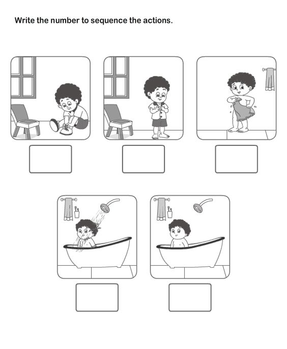 {Picture Sequence Learning Arrange Series of Pictures Picture – Sequencing Worksheet for Kindergarten