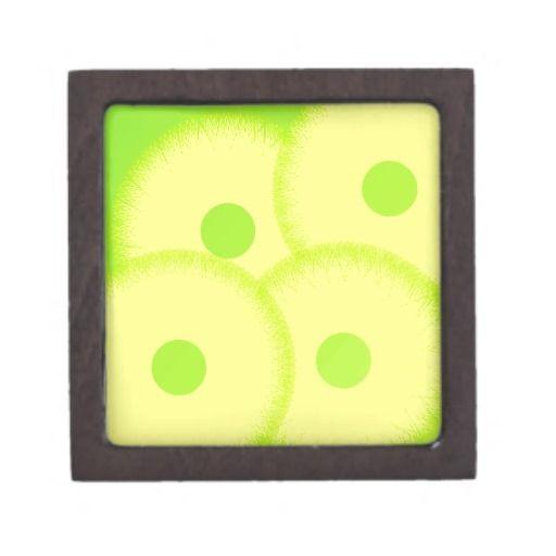 green and yellow abstract art premium jewelry box