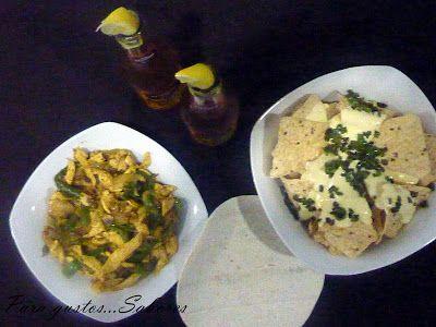 Cena Mexicana! Fajitas y Nachos con queso | Para gustos...Sabores