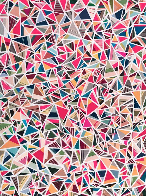 三角の幾何学模様