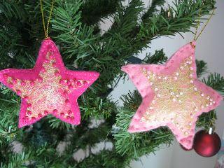Enfeite para árvore de Natal em feltro