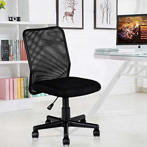 Mesh Mid Back Armless Ergonomic Chair Computer E Sports Practical Gaming Seat Workstation Office Furniture L Mesh Office Chair Office Chair Design Office Chair