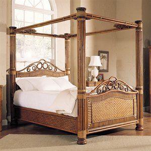 Wicker Canopy Bed