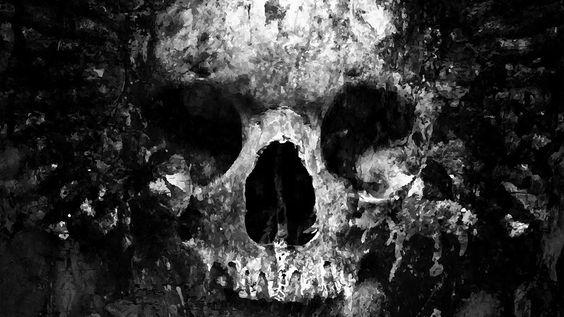 Wallpaper: http://desktoppapers.co/au44-skull-face-ark-paint-illustration-art-bw-dark/ via http://DesktopPapers.co : au44-skull-face-ark-paint-illustration-art-bw-dark