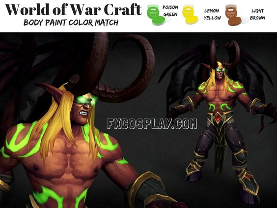 Demon Hunters from World of Warcraft Legion body paint #ColorMatch #WoW