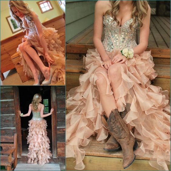 Find More Prom Dresses Information about Fashionable Hi Lo Prom Dresses Corset Bodice Sweetheart Sexy Country Western Party Prom Dress With Sparkly Crystals/Rhinestones,High Quality dress up party games,China dresses cut Suppliers, Cheap dress patterns prom dresses from xlbutterfly on Aliexpress.com