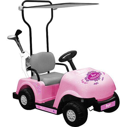 kidz motorz golf cart 6v battery powered car with golf bag and clubs pink golf car power wheels for kids
