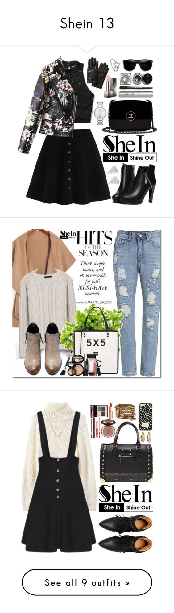 """Shein 13"" by oshint on Polyvore featuring Banana Republic, Abercrombie & Fitch, Chanel, Bobbi Brown Cosmetics, Burberry, Marc by Marc Jacobs, KC Designs, Rock 'N Rose, shein and Laura Geller"