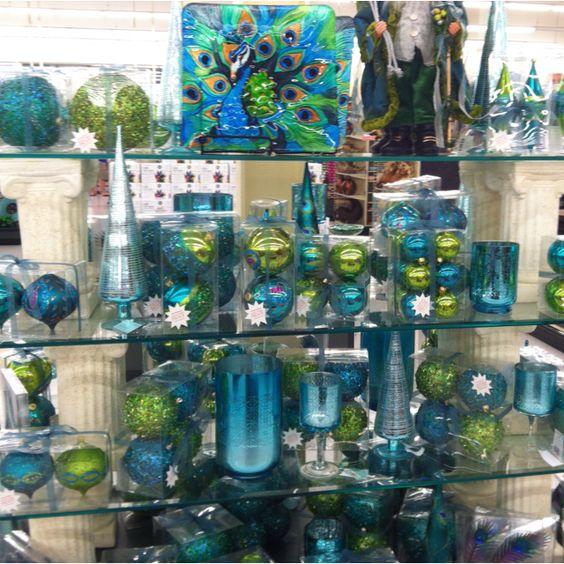 Peacock christmas, Hobby lobby and Lobbies on Pinterest