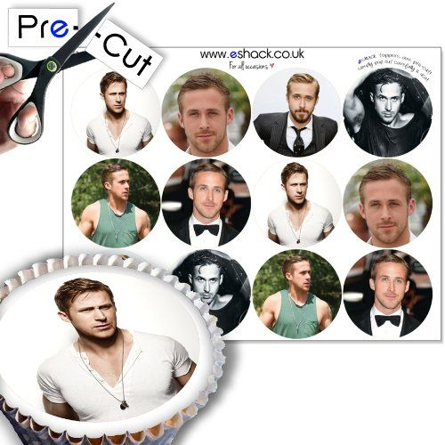 12 x PRE-CUT Ryan Gosling Edible Cake Toppers / Decorations - Really easy to use, these edible cake toppers feature 6 different Ryan Gosling images. For best results simply pop out carefully and affix to icing, marzipan or buttercream on top of your cake or cupcakes. eShack toppers are perfect for all occasions including Birthday parties, Weddings, Special... - http://irishcakesupplies.com/wp-content/uploads/2013/12/51na4E2NNFL.jpg - #12, #Cake, #EDIBLE, #Gosling, #PRECUT, #R