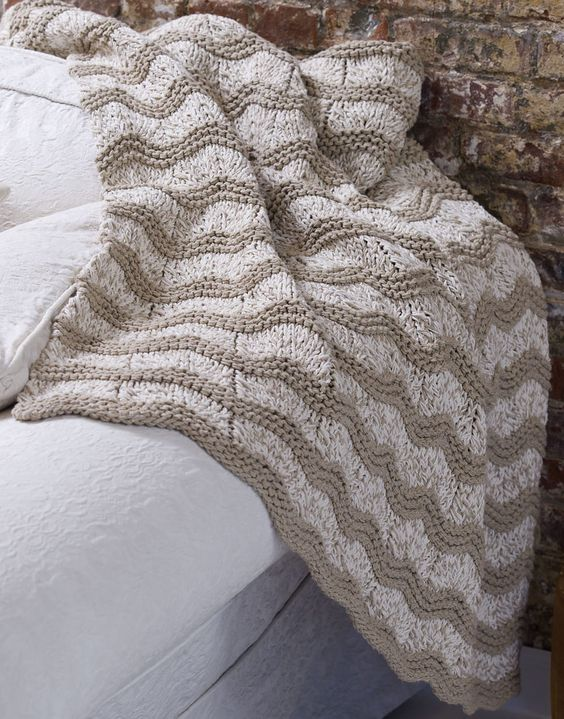 Knit Blanket Pattern Size 13 Needles : Easy Afghan Knitting Patterns
