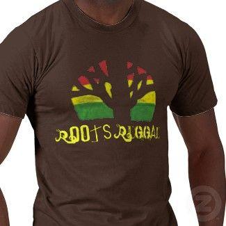 Roots Reggae Men's Brown T shirtbykjavval