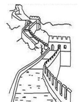 china landmarks coloring pages - photo#1