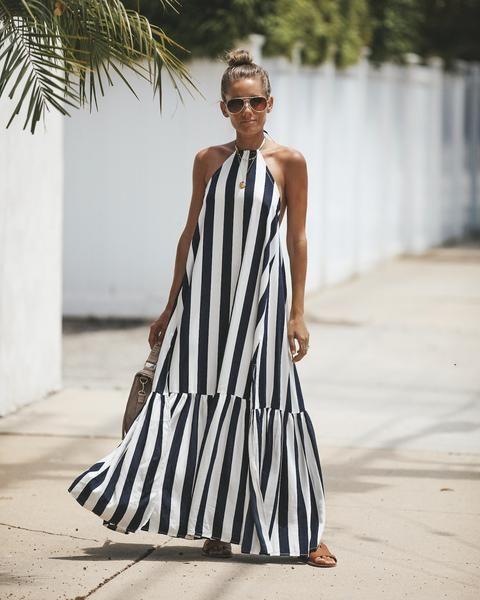 Positano Adjustable Halter Dress