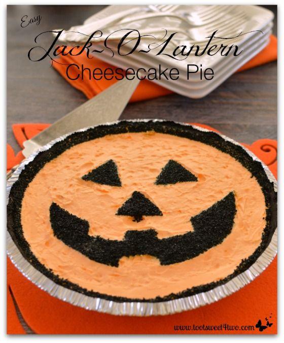 Easy Jack-O-Lantern Cheesecake Pie