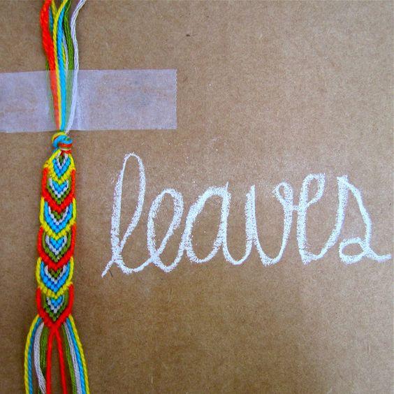 DIY: leafy friendship bracelet