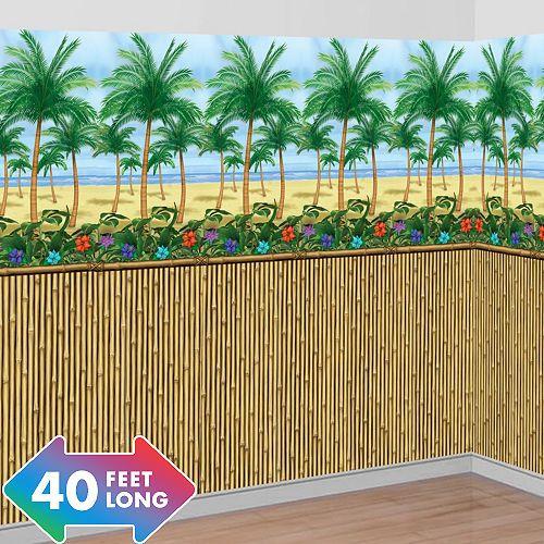 Bamboo Beach Scene Setter Kit Luau Decorations Scene Setters