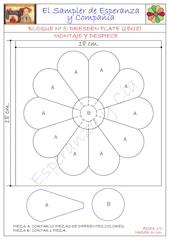how to make a dresden plate template - patrones dresden and dresden plate patterns on pinterest