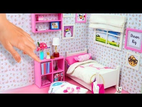 Diy Miniature Wardrobe Closet Clothing Accessories Collab With Red Ted Art Youtub Diy Barbie Furniture Barbie House Furniture Barbie Furniture Tutorial