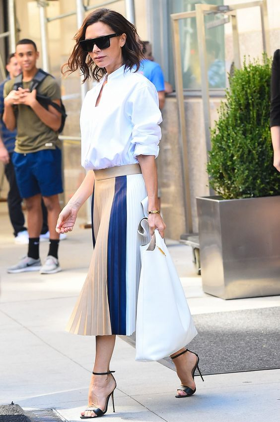 The runways and front row were filled with stylish moments, but these stars demonstrated their fashion acumen on the street. Victoria Beckham at New York Fashion Week.
