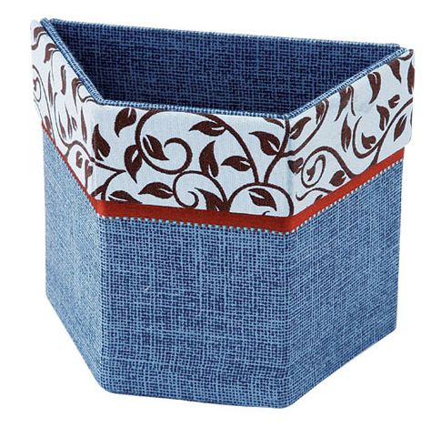 box made of cardboard and denim recycling