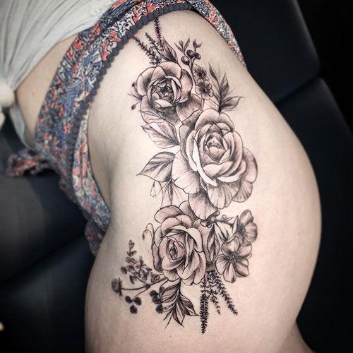 125 Best Thigh Tattoos For Women Cute Ideas Designs 2019 Guide Flower Thigh Tattoos Thigh Tattoos Women Tattoos For Women