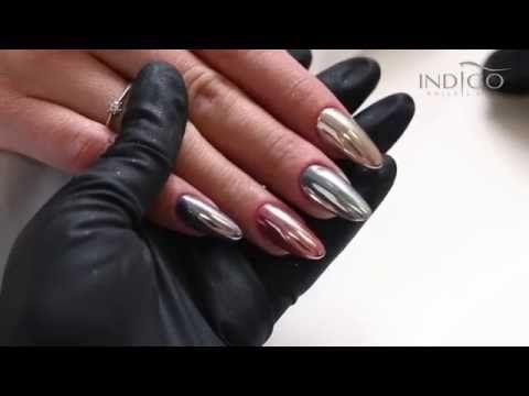 Indigo MetalManix , Multi Chrome  Paznokcie MetalManix  Chrome nails