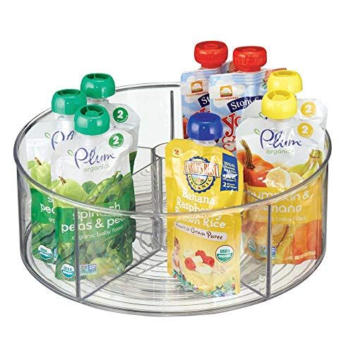 Mdesign Divided Lazy Susan Turntable Storage Container For Kitchen