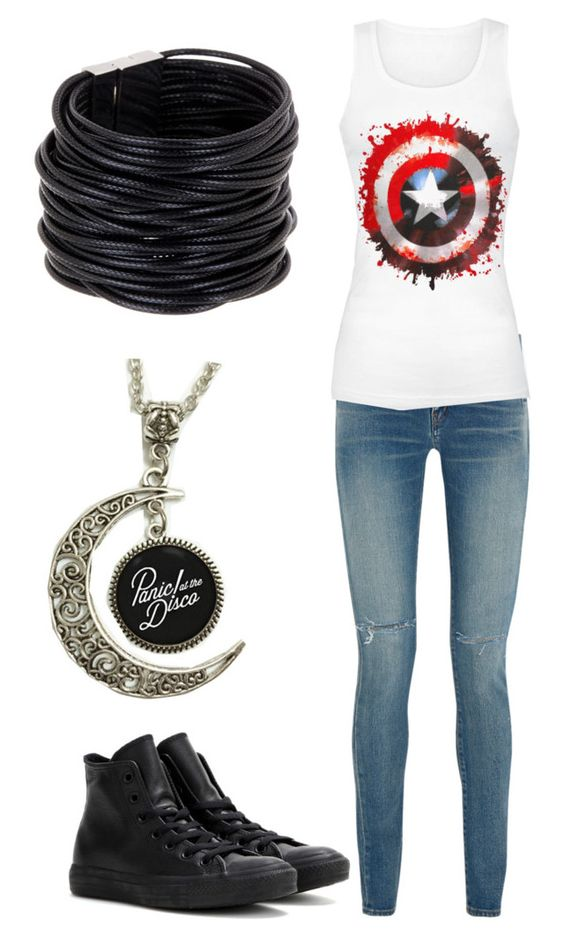 """""""Untitled #280"""" by robandshannon ❤ liked on Polyvore featuring Yves Saint Laurent, Converse and Saachi"""