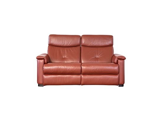 Dania Customers love the European look and luxurious feel of our new Sena reclining sofa Features two power reclining seats with tufted back cus u