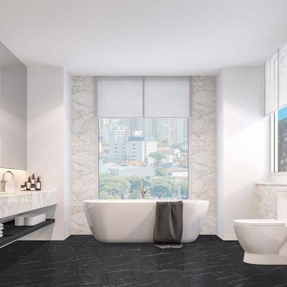 Lucida Surfaces Terracore Nero Marquina 12 In W X 24 In L Click Lock Luxury Vinyl Tiles Flooring 16 Sq Ft Tc 606 The Home Depot In 2020 Luxury Vinyl Tile Luxury Vinyl